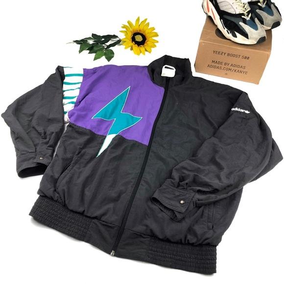 Rare Adidas vintage 80's Windbreaker Jacket XL